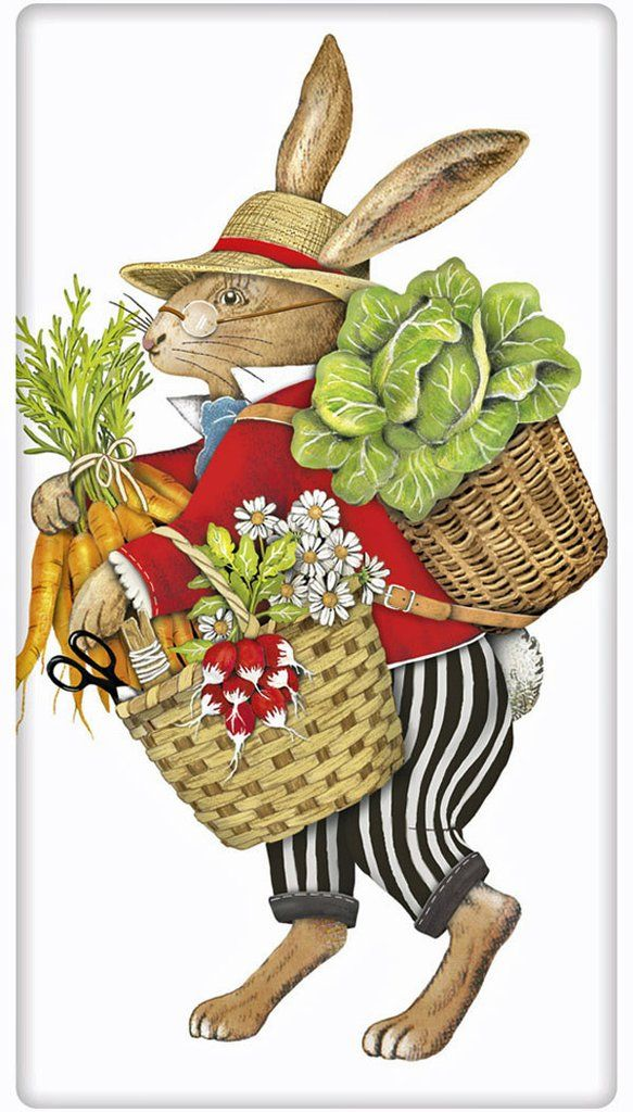 Best Collection Of Easter Tea Dish Towels Easter Art Bunny Art Vintage Easter