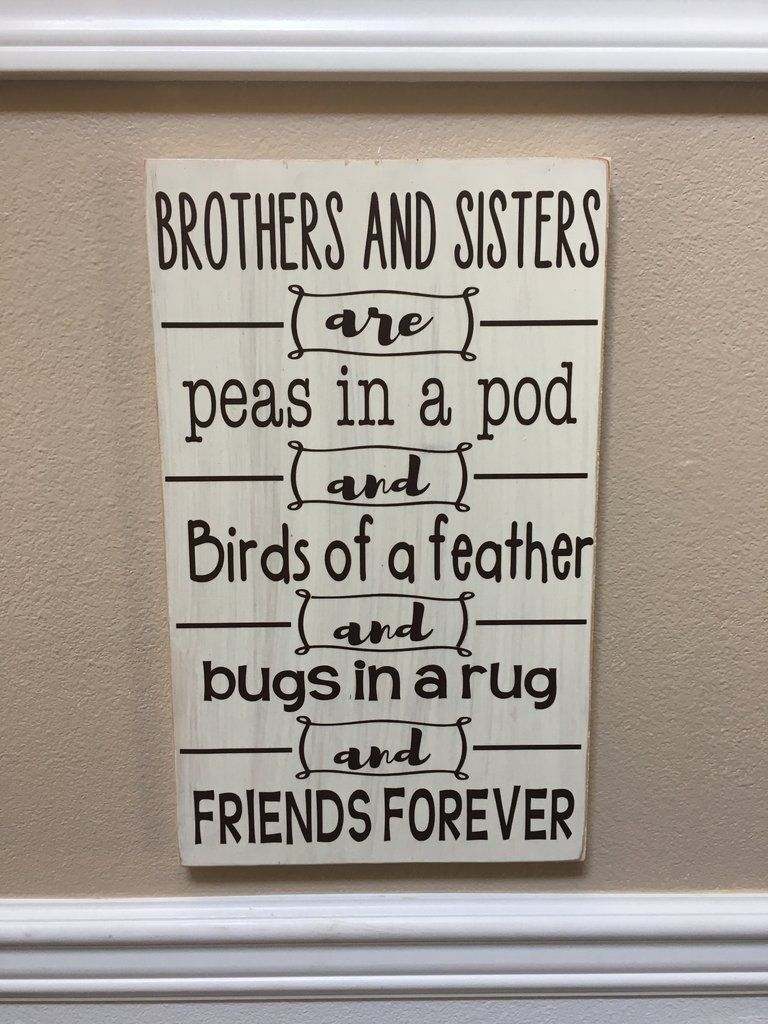 Boys Kids Room Sign Wood You Pick Color Plaque Brother Will You...Be My Friend