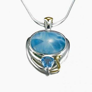 #localshipping we love this gorgeous larimar pendant from @Maui Silver Jewelry!