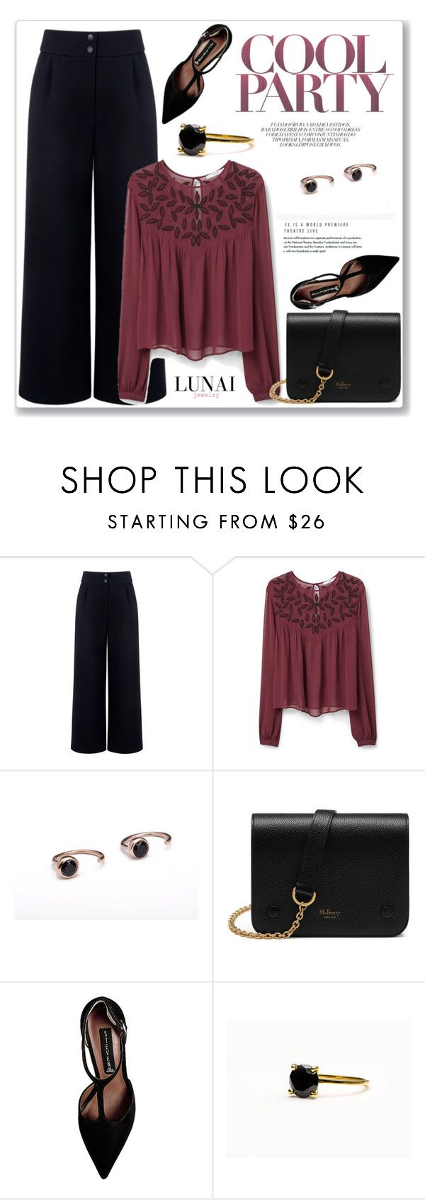 """Lunai Jewerly 3/I"" by amra-mak ❤ liked on Polyvore featuring Être Cécile, MANGO, Mulberry, Steve Madden and lunaijewerly"