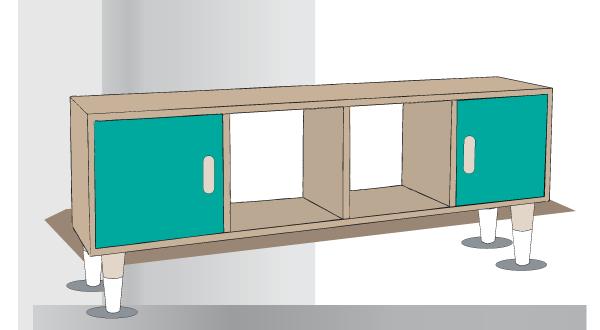 tuto pour fabriquer un meuble style scandinave - Meuble Style Scandinave