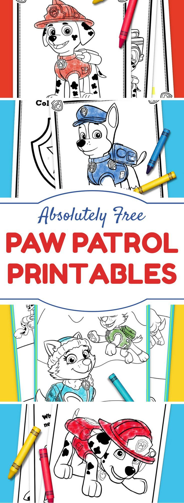 The Top 10 PAW Patrol Printables of All Time   Fiestas infantiles ...
