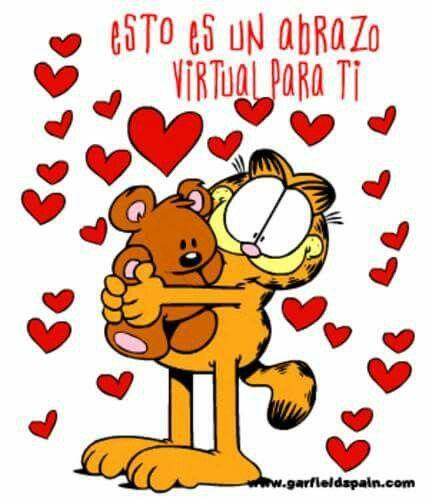 Abrazo Virtual Garfield Y Sus Amigos Besos Y Abrazos Garfiel