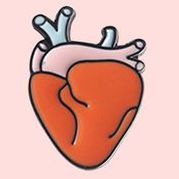 Heart Pin sold by La Chapiterie on Storenvy