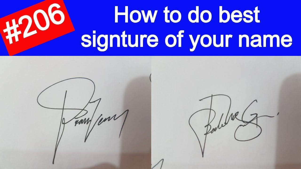Best Signature for my name  how to write best Signature for