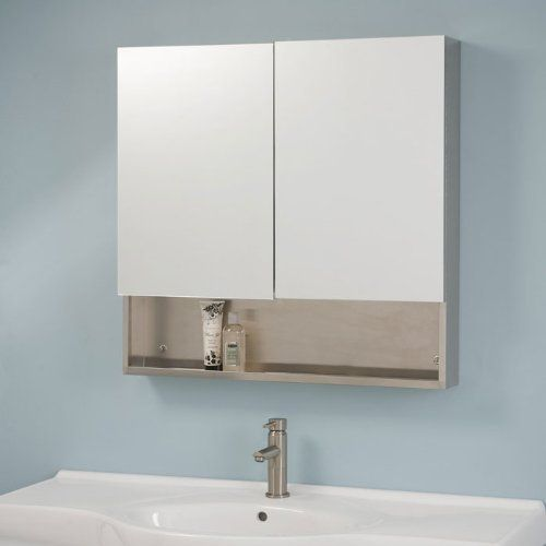Dawson Stainless Steel Double Door Medicine Cabinet With Mirror