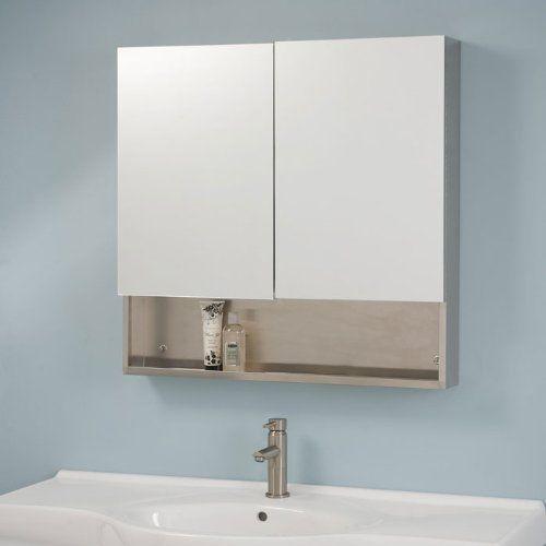 Dawson Stainless Steel Double Door Medicine Cabinet With Mirror
