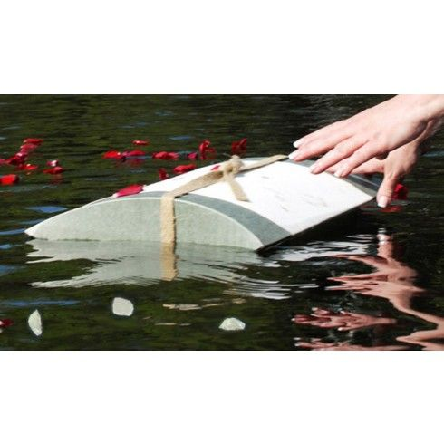 Floating Peaceful Pillow Urn   Biodegradable products, Green funeral,  Biodegradable urns