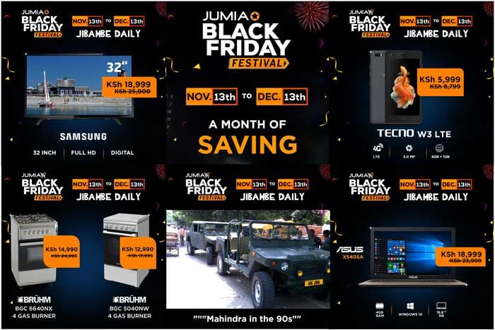 The Jumia Black Friday in Kenya is scheduled to run from the