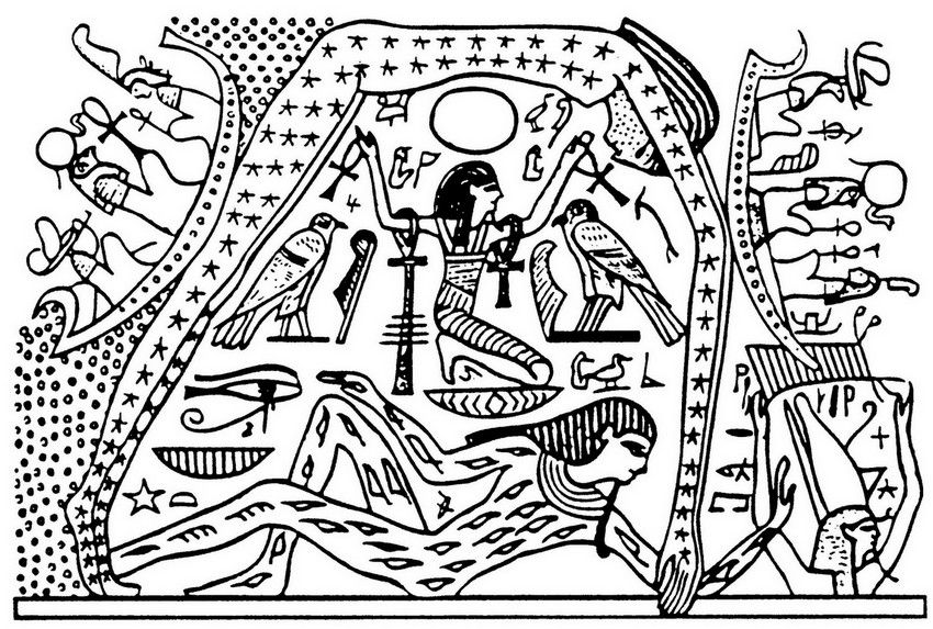 Egypt: representation of the world | Coloring for adults | Pinterest ...