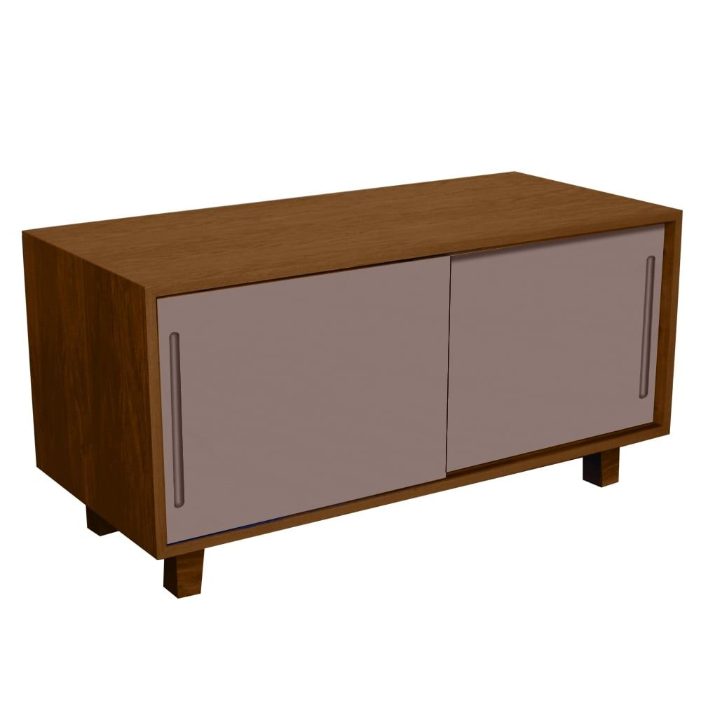 Buy Fusion Living Modern Retro Walnut And Grey TV Table Available Now