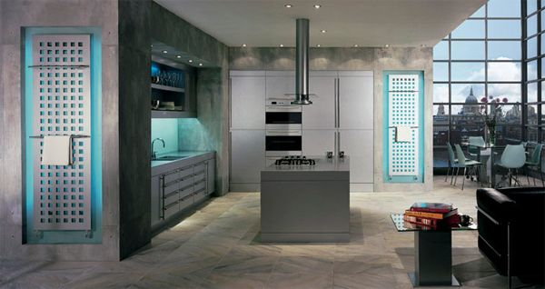 Charmant Towel Radiator In Ultra Modern Kitchen
