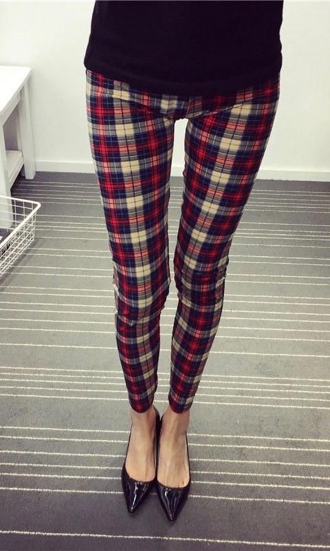 Buy red plaid pants and get free shipping on AliExpress