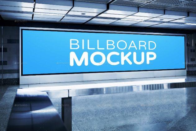 Pin Di Subway Advertising Mock Ups Templates Premium Download