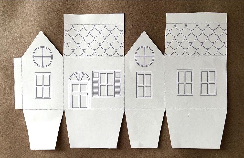 Домик из бумаги развертка поделка из бумаги домик