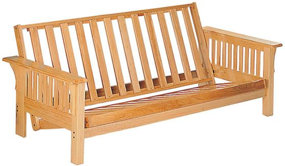 Deluxe Rubber Wood Futon Frame By Coaster Furniture Chicago S