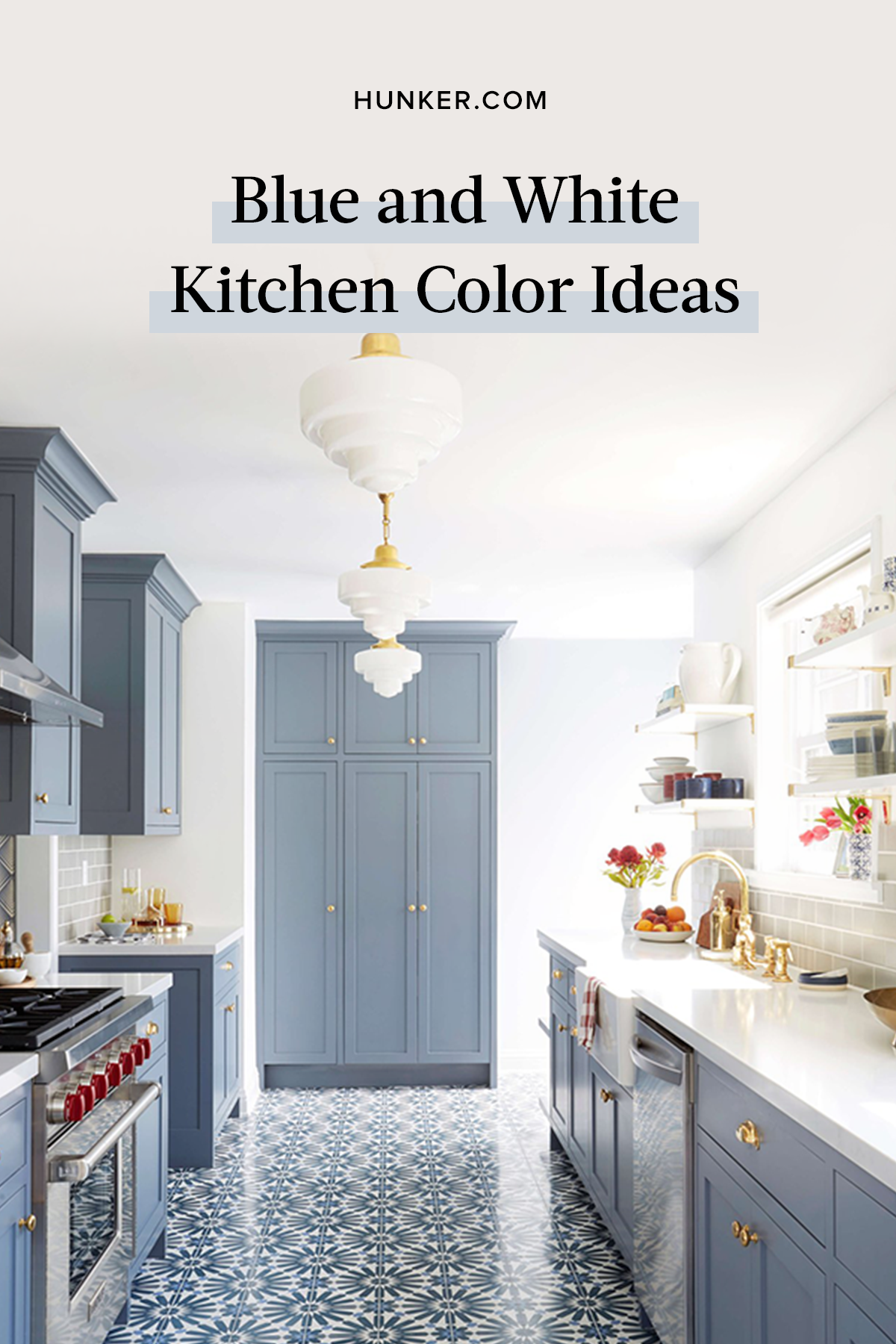 Hungry For Kitchen Color Ideas These Blue And White Spaces Are Guaranteed To Satisfy Hunker Kitchen Colors Blue Kitchen Walls Blue White Kitchens