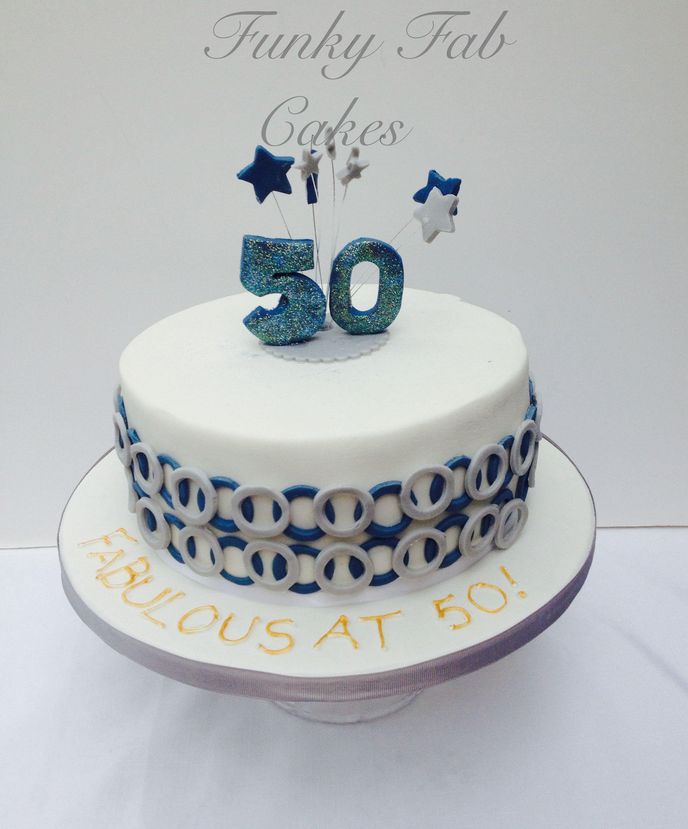 Male 50th Birthday Cake