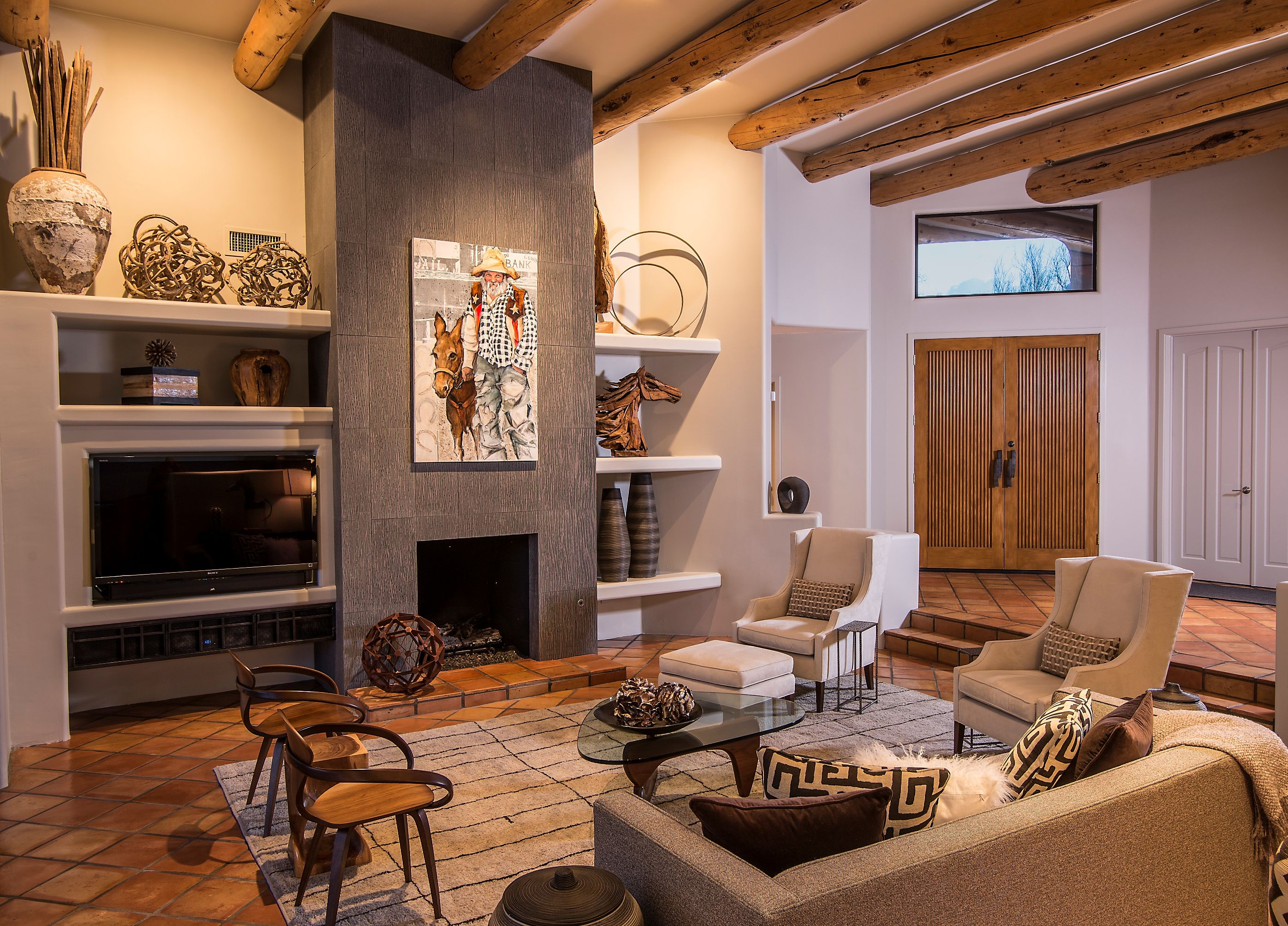 Keeping The Original Flooring And Timber Wood Beams Grounded The