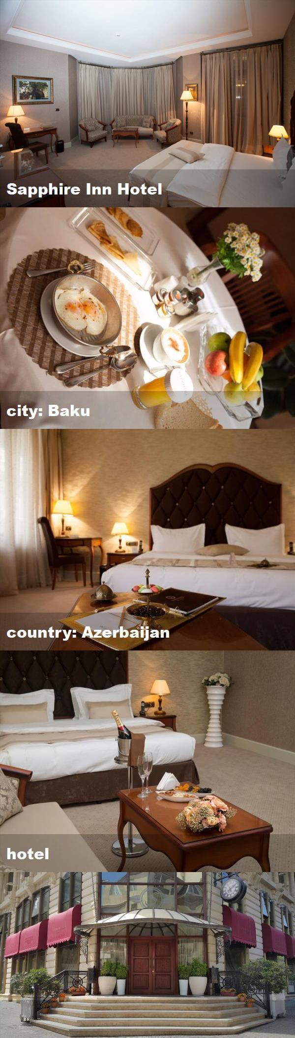 Sapphire Inn Hotel City Baku Country Azerbaijan Hotel Hotel Inn Fountain Square