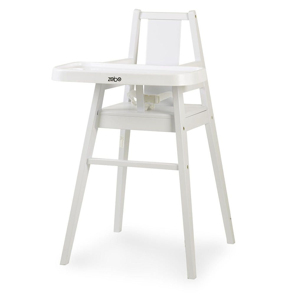 Feed Your Young One In Style With This Modern And Fashionable Zobo Summit Wooden High Chair Snow Wooden High Chairs Modern High Chair Wooden Baby High Chair
