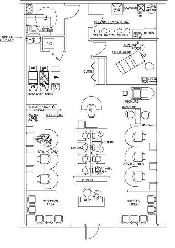 Salon Design Floorplan Layout By AB Equipment