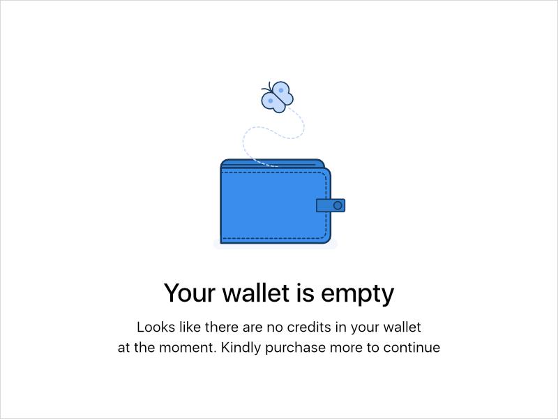 Empty Wallet Empty State Empty Wallet