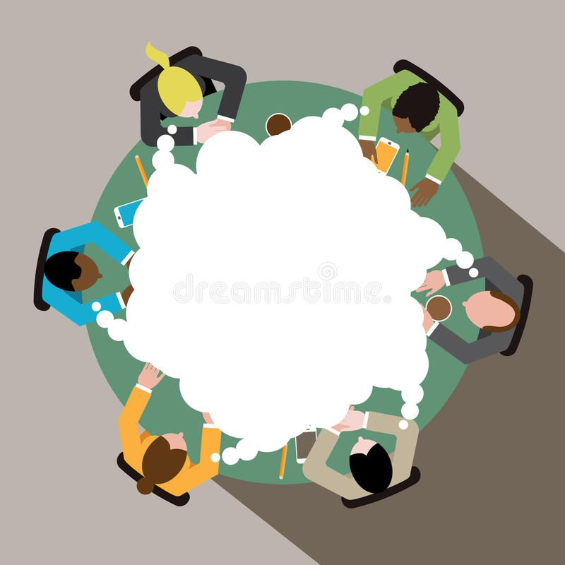 Diverse Group Of Business Men And Women Thinking At Round Conference Table Eps Sponsored Sponsored Adve In 2021 Illustration Man Illustration Free Illustrations