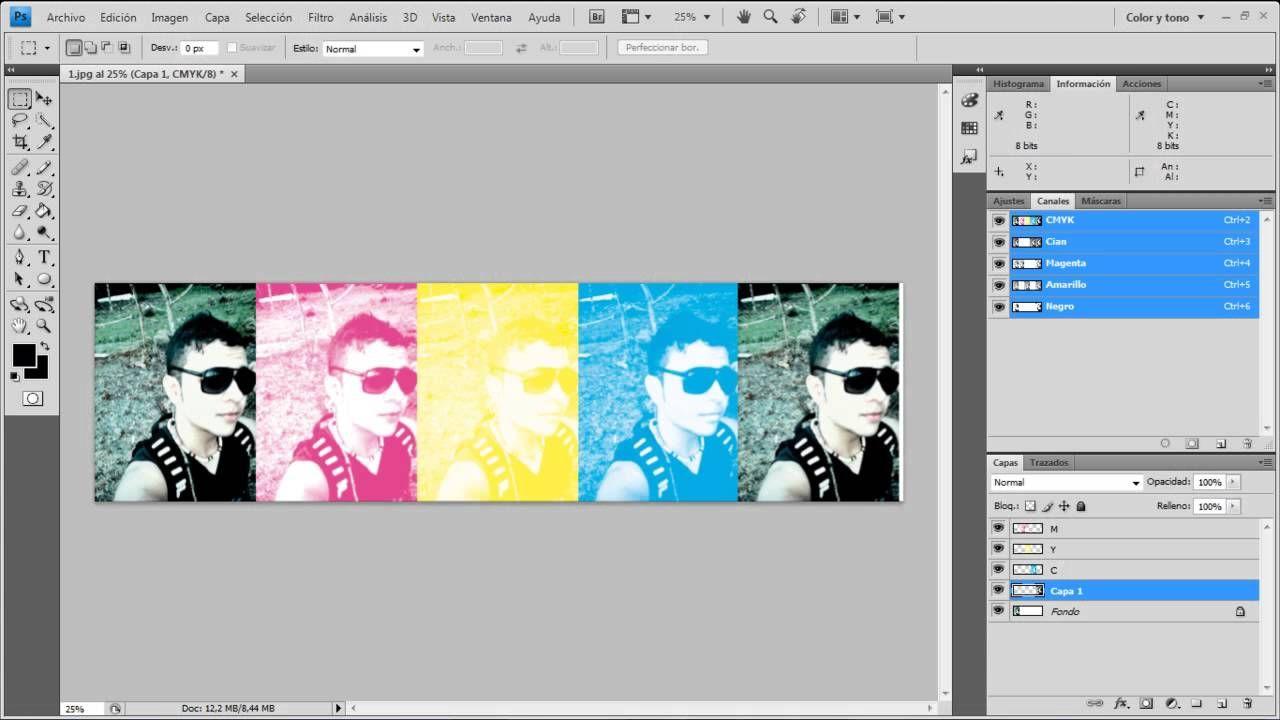 Descomposicion Del Sistema Cmyk O Cuatricromia En Adobe Photoshop Cuatricromia Photoshop Impresión De Pantalla