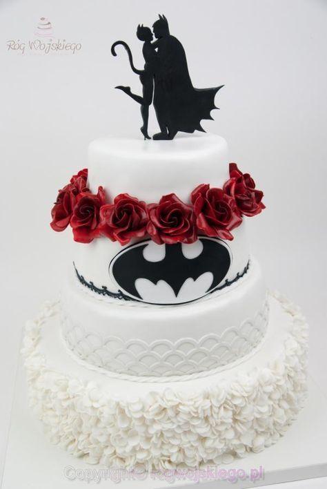 Batman Wedding Cake Tort Weselny Batman Catwoman Cake By Edyta