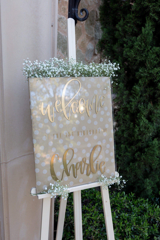 Customizable Sign Clear Acrylic for Birthdays