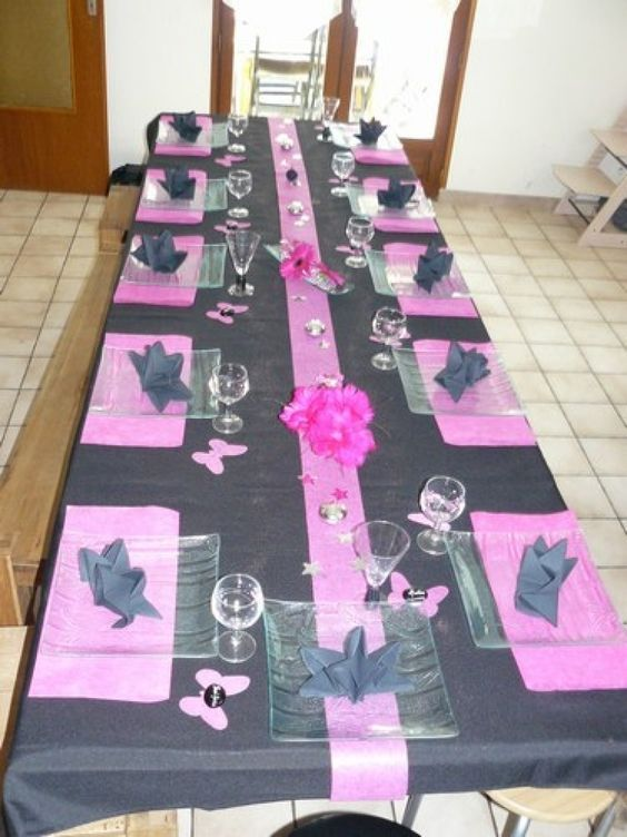 deco table anniversaire lgant dcoration anniversaire 04. Black Bedroom Furniture Sets. Home Design Ideas