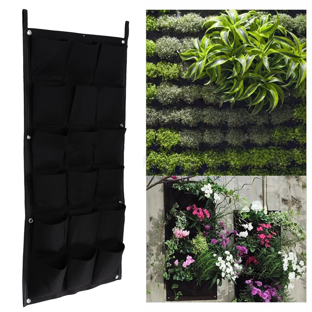 18 Pockets 50cm*100cm Hanging Plant Pots Wall Pot Vertical Gardening Flower  Pots And Planter