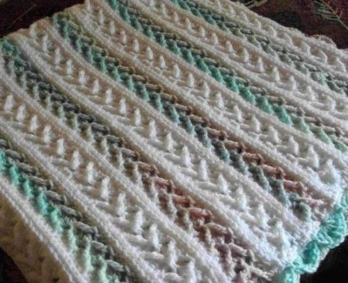 Arrow Stitch Crochet Afghan Free Pattern Crafts Pinterest