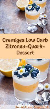 Low Carb Zitronenquark Dessert im Glas - Rezept für Dessert - #dessert #glas #le ...