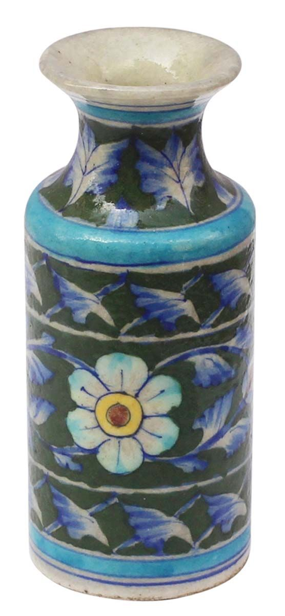Bulk Wholesale Handmade 6 Ceramic Flower Vase In Dark Green Teal