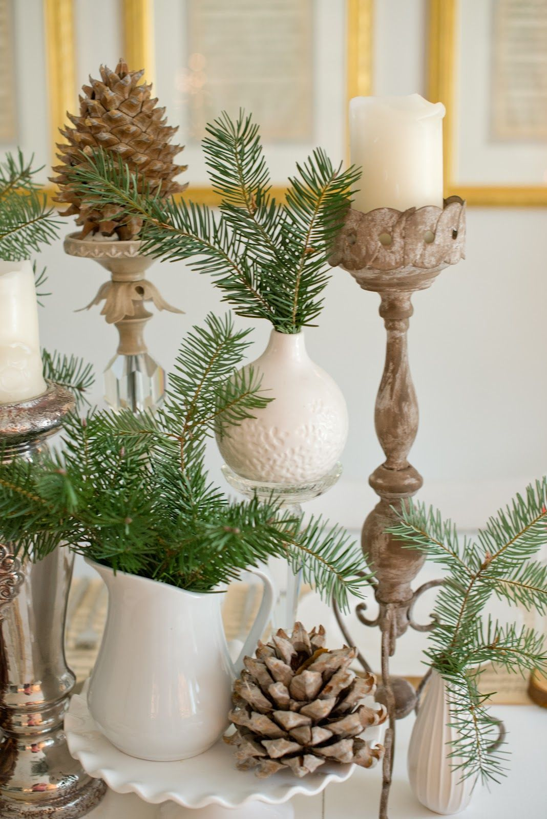 Natural Christmas Tablescape WINTER Pinterest Natural