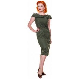 Robe Crayon Pin-Up Rétro 50s Glamour Amelia