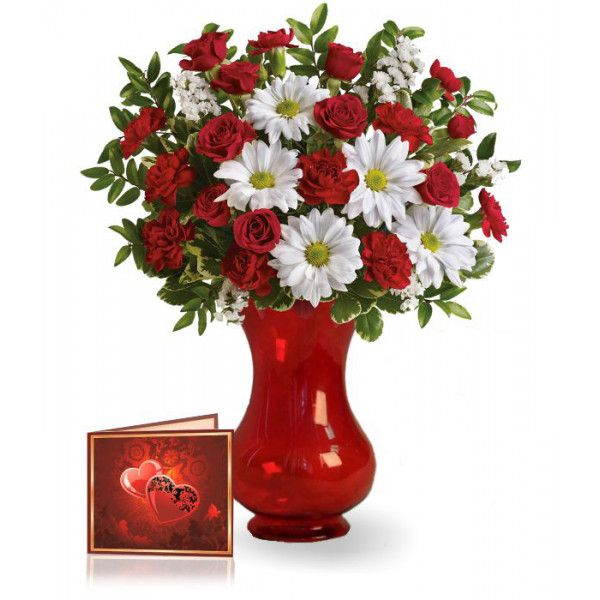 Beautiful bouquet of 15 mix flowers of roses carnation and daisy of 15 mix flowers of roses carnation and daisy vase not included with full size greeting card send flowers on your lovers birthday to australia mightylinksfo
