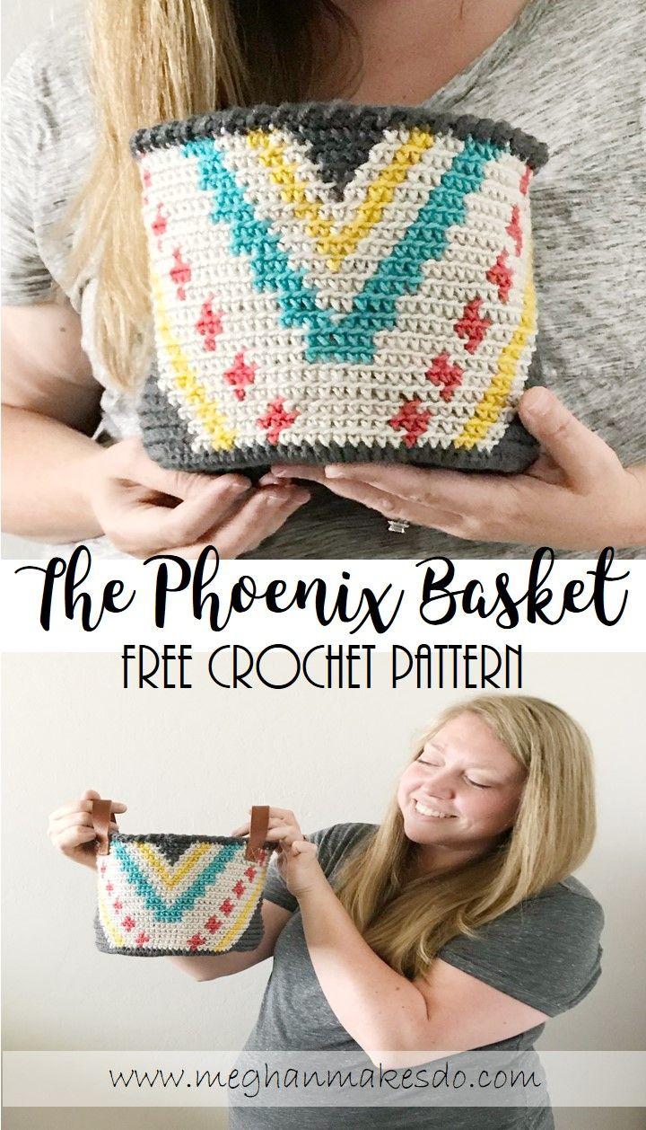 Jul 5 The Phoenix Basket Free Crochet Pattern Crochet Household