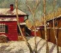 Häuser im Schnee by Max Malitz