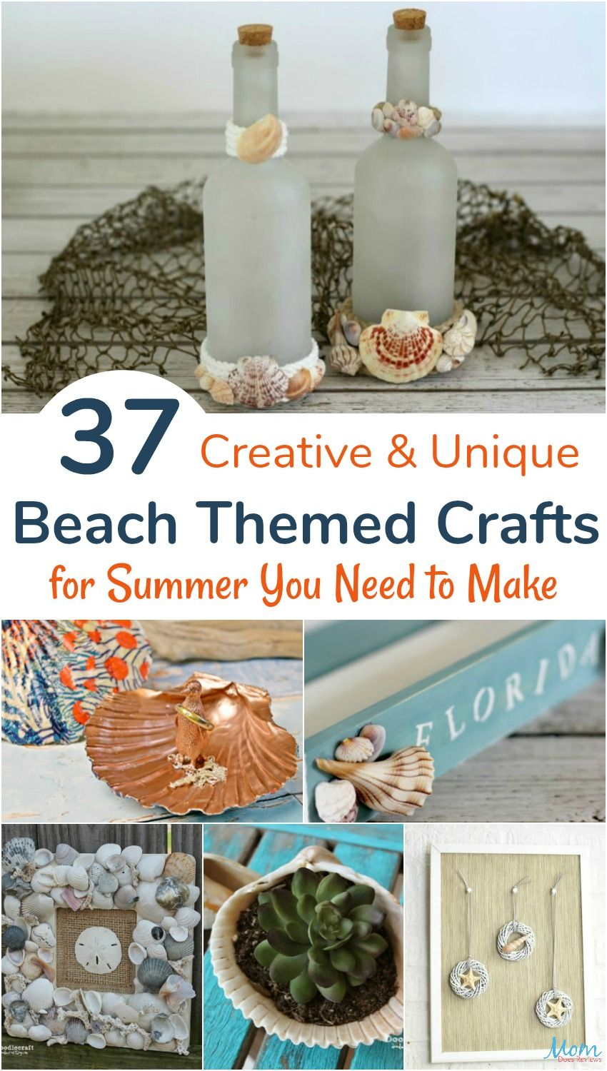 37 Ideas To Use All 4 Bahtroom Border Tile Types: 37 Creative & Unique Beach Themed Crafts For Summer You