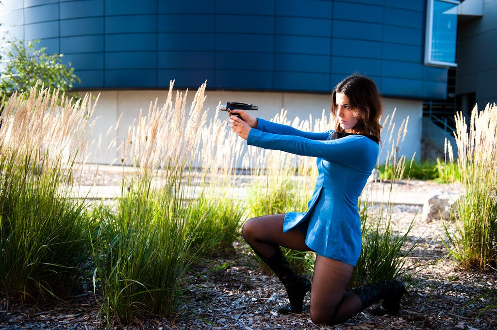 Wooo another shot of my Star Trek costume! I really like this one, though yes I will say I do find it odd I am sitting on a skateboard. Thank you very much to Kevin (SolarTempest) for letting me bo...