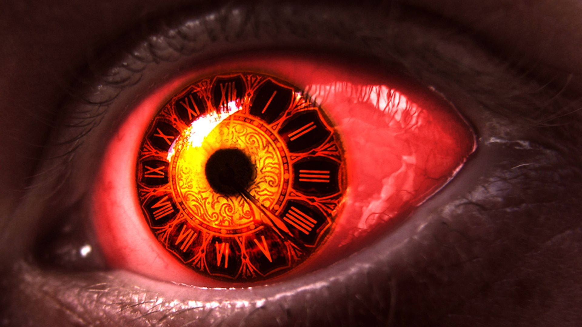 Image result for 3d-red-eyes-of-clocks-time-horror