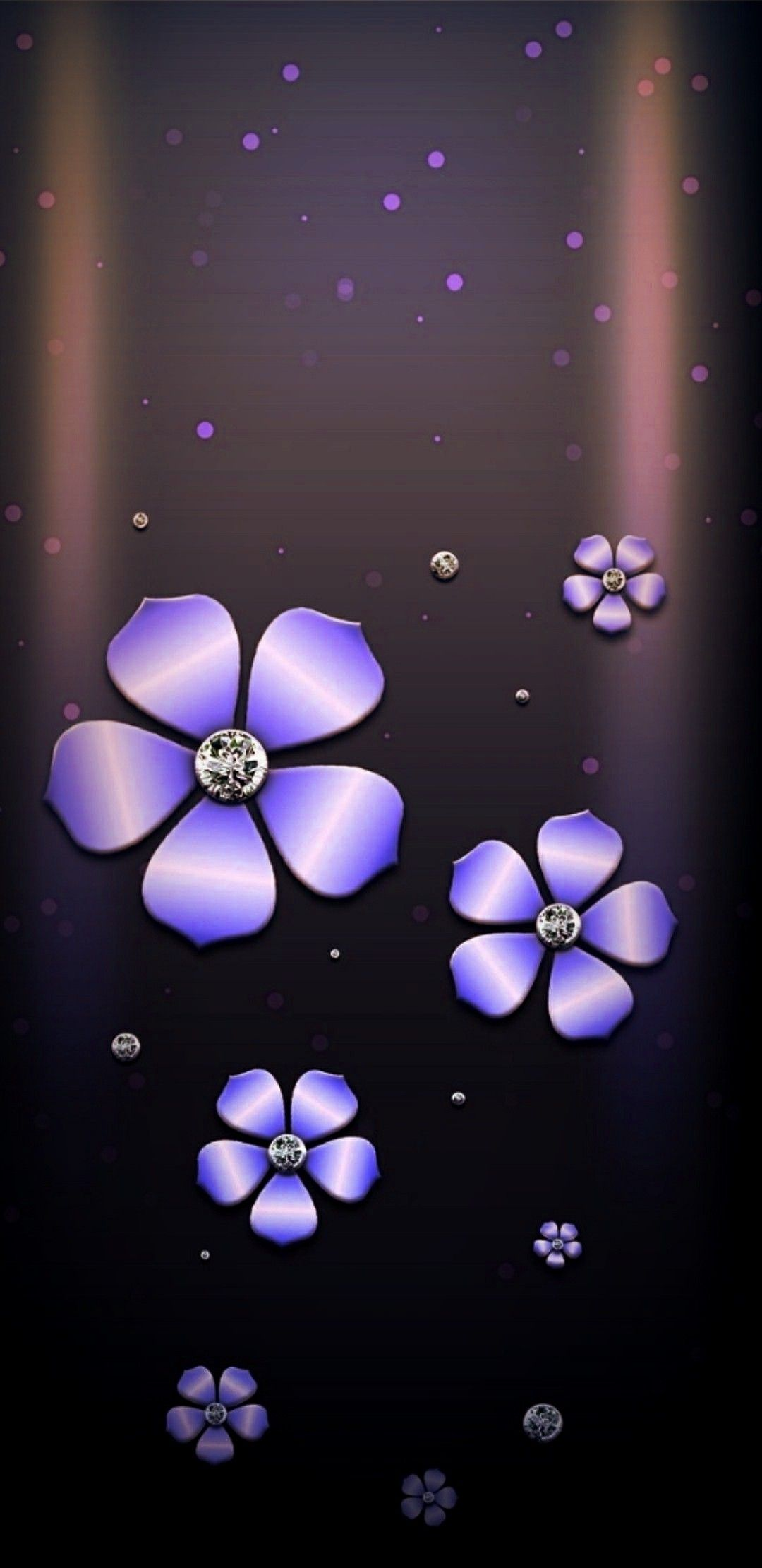 Black And Purple Flower Phone Wallpaper Iphone Wallpaper Flower Wallpaper