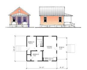 Katrina Cottage House Plans Plans Not To Scale Drawings Are Artistic Renderings And May Not Tiny House Cabin Tiny House Plans Tiny House Floor Plans