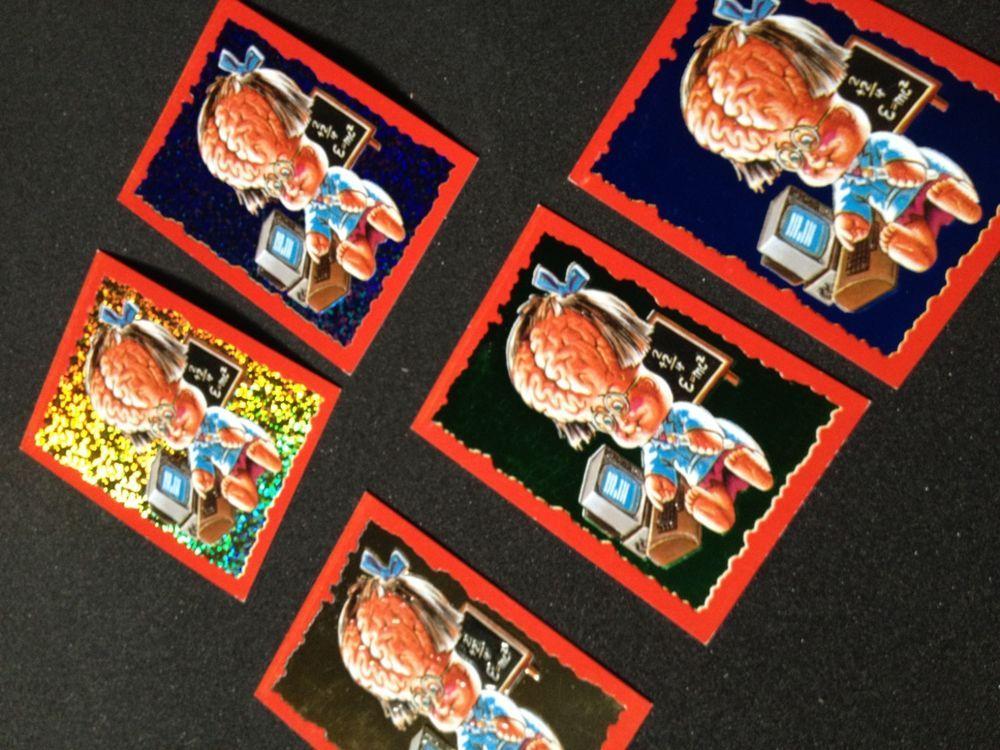 Brainy Janie Gpk Basuritas 5 Different Foil Hologram Cards Argentina Basuritas