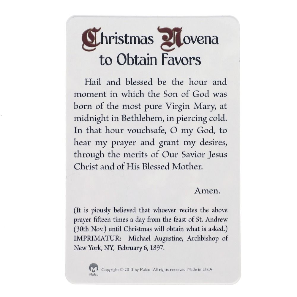 Christmas Novena Prayer Card with Red Rosary, $12.95 | Catholicism ...