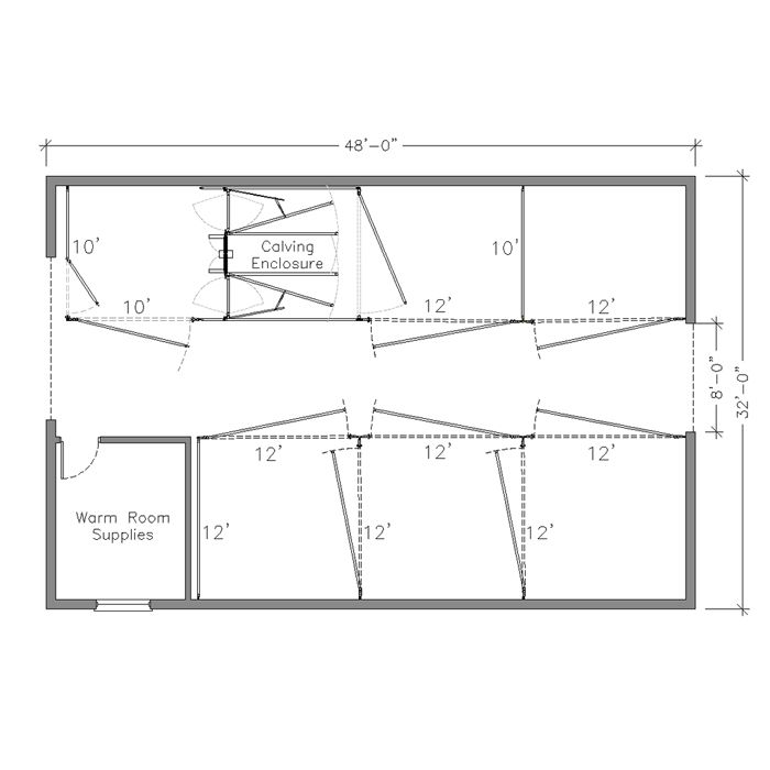 Barn Plan With Calving Chute