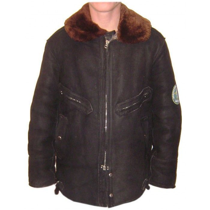 Russian air force leather suede military pilot jacket soviet ...